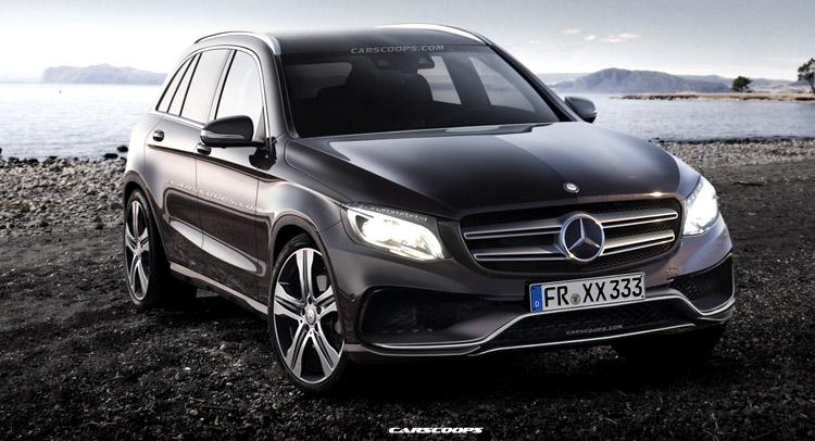 2016 Mercedes GLC class front design
